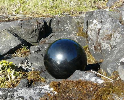 kuzovok,me shar shungit, черный шар, шар для медитации